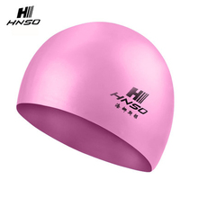 2017 Non-toxic silicone waterproof ear protection custom rubber swim cap for adults and kids