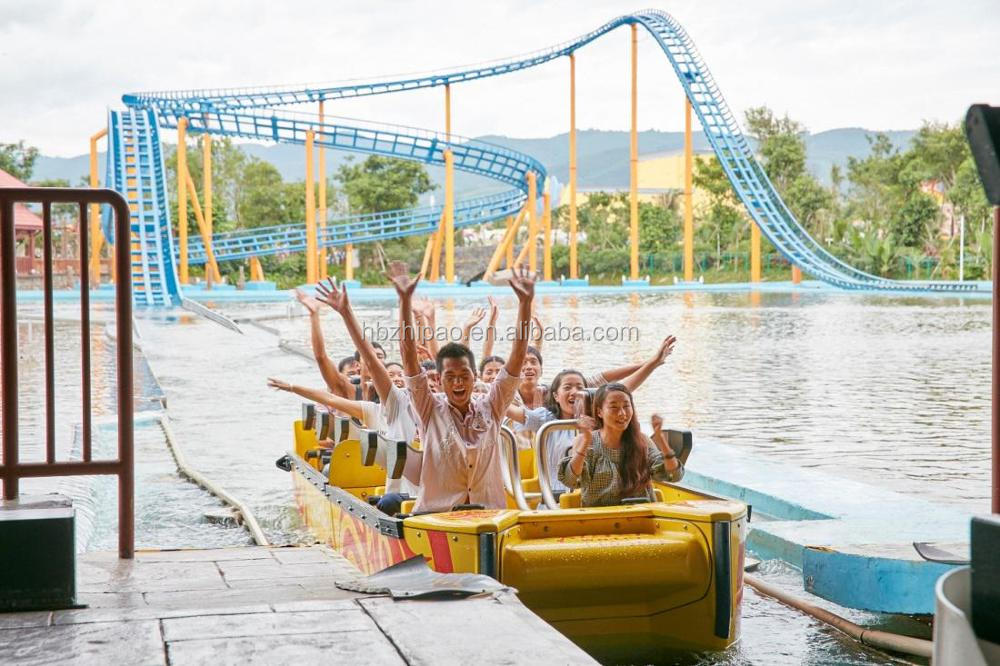 manufacturer direct ride thrilling water amusement park ride big splash flume ride for sale