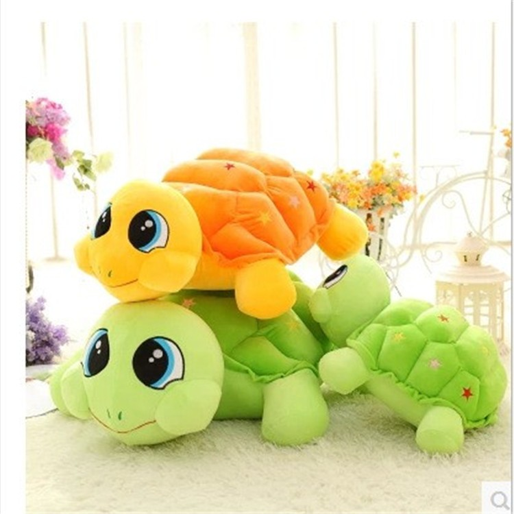2016 Custom shaped PP cotton soft creative gift colorful lovely plush turtle toy