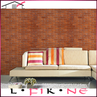 3D effect interior brick wall coverings living room wallpaper
