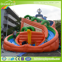 Commercial Inflatable Water Slide, PVC Giant Inflatable Water Slide With Pool