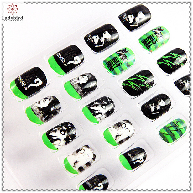 2014 hot sale fashion design nail art fake nail tips