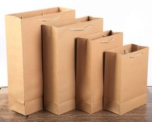 Wholesale Factory Direct Sales Fashionable Kraft Paper Bag Brown