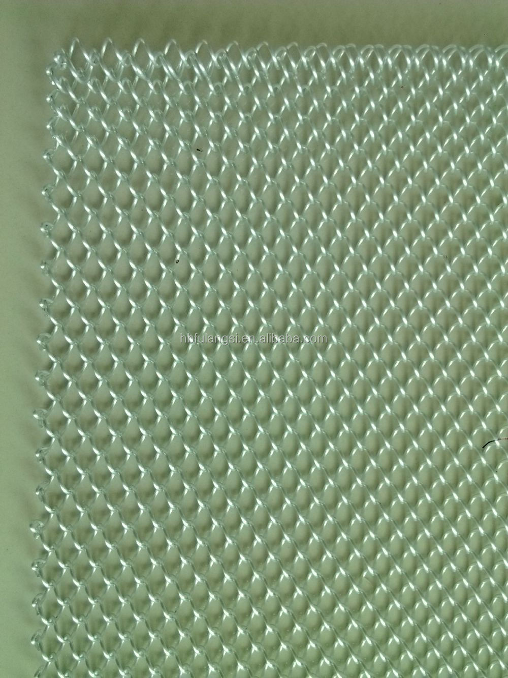 decorative chain link mesh for fireplace metal building material