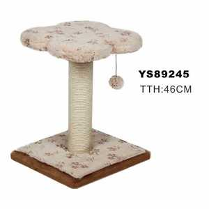 Flower Soft Fabric Cat Tree Scratcher With Ball Toys