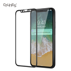 CTUNES 3D Full Coverage 9H Hardness HD Clear Tempered Glass Screen Protector Bubble-Free Anti-Scratch Film For iPhone X