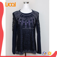 New fashion beads sequins sexy lady top