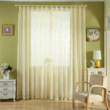 Embroidered Curtain Drapery Voile Curtains Sheer Window Panel Fabric