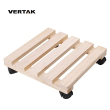 VERTAK Good services cheap square wooden flower pot trolley with wheel