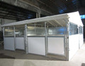 Hot dipped gavanized Frame Portable Horse Stall with door