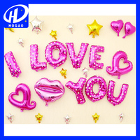 WholesaleI I LOVE YOU globos love heart advertising balloon for Valentine's Day decoration,latex balloon,helium balloon