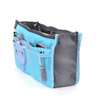 Nylon Portable Multi-function Handbag Pouch Bag in Bag Organiser Insert Organizer Tidy Travel Cosmetic Pocket