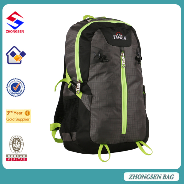 backpack flashing light backpack leather bags men hiking shoulder bags