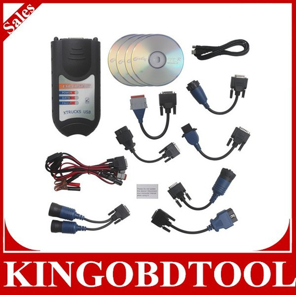 XTruck USB Link Truck Diagnose Interface, heavy truck scan tool,Xtruck heavy truck diesel engine diagnostic scanner obd2 scanner