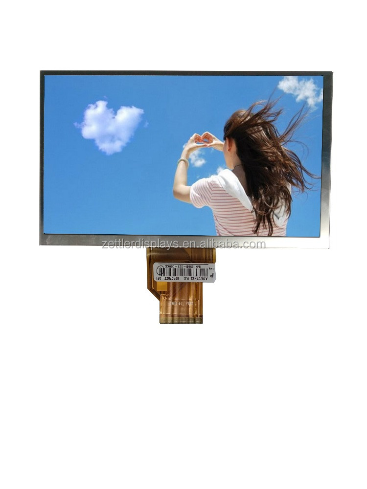 7 inch tft monitor 800x480 with RGB interface, brightness 500 nits, OA size 164.9x 100.0x 5.7 mm