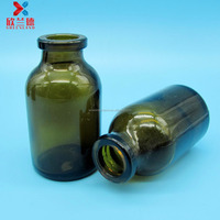 china supplier 20ml amber glass moulded injection bottle for antibiotics wholesale