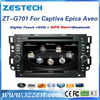 ZESTECH 7 inch car dvd navigator for Chevrolet Captiva in dashboard car navigation system