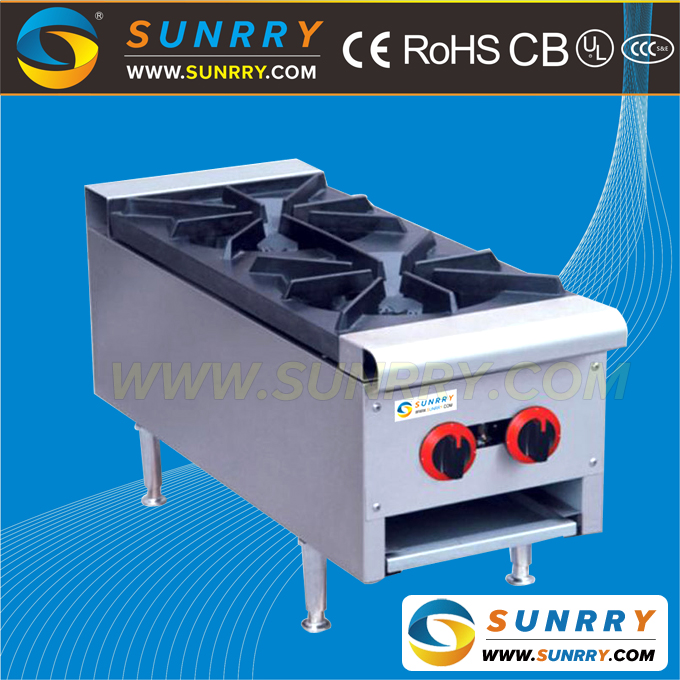 Table top gas cooker range with cast iron and high pressure gas burner