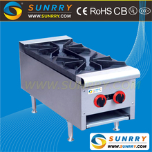 Table top spider grate gas cooker range with cast iron and high pressure gas burner