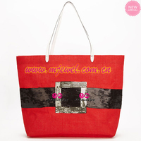 STOCKED sequin christmas bag