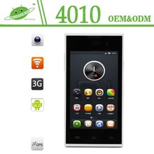Shenzhen Factory 4.0 inch dual core Android 4.4 0.3/2.0 camera 3g android yxtel mobile phone