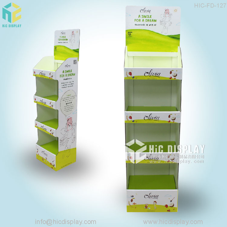 Shopping Mall Promotion Advertisment Use pop up cardboard greeting card display stand , display stand cardboard