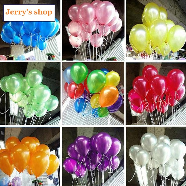 100pcs/lot Quality 10 inch Cheap Latex Ballon Balao Party Globos white Wedding baloons Birthday Balloons Balls child toys gifts