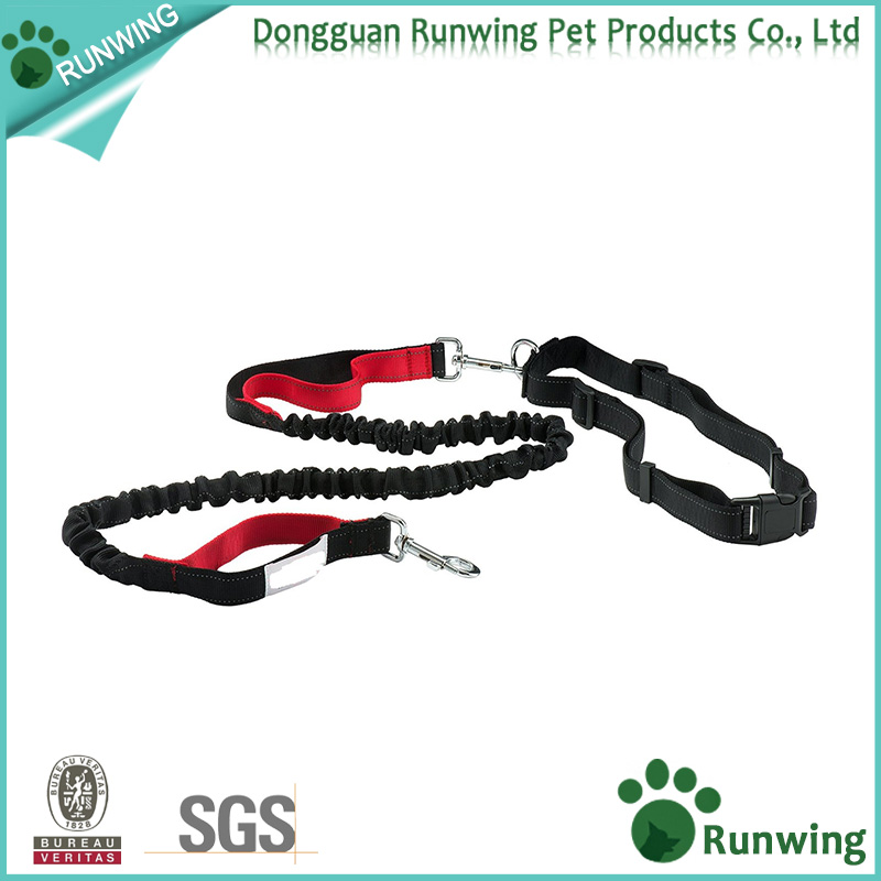Hands Free Dog Leash Bungee for Running with Dual Handle and Adjustable waist belt
