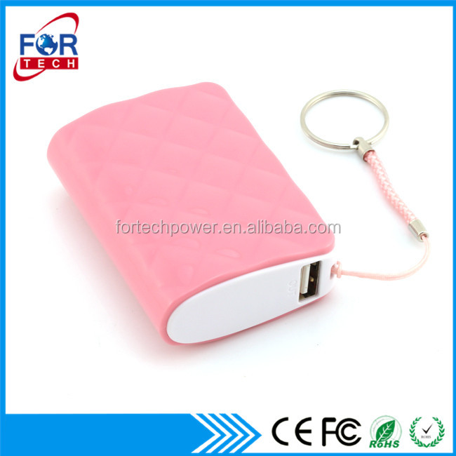 Round Shape Mini Cute Pink Color 5200 mah Power Bank