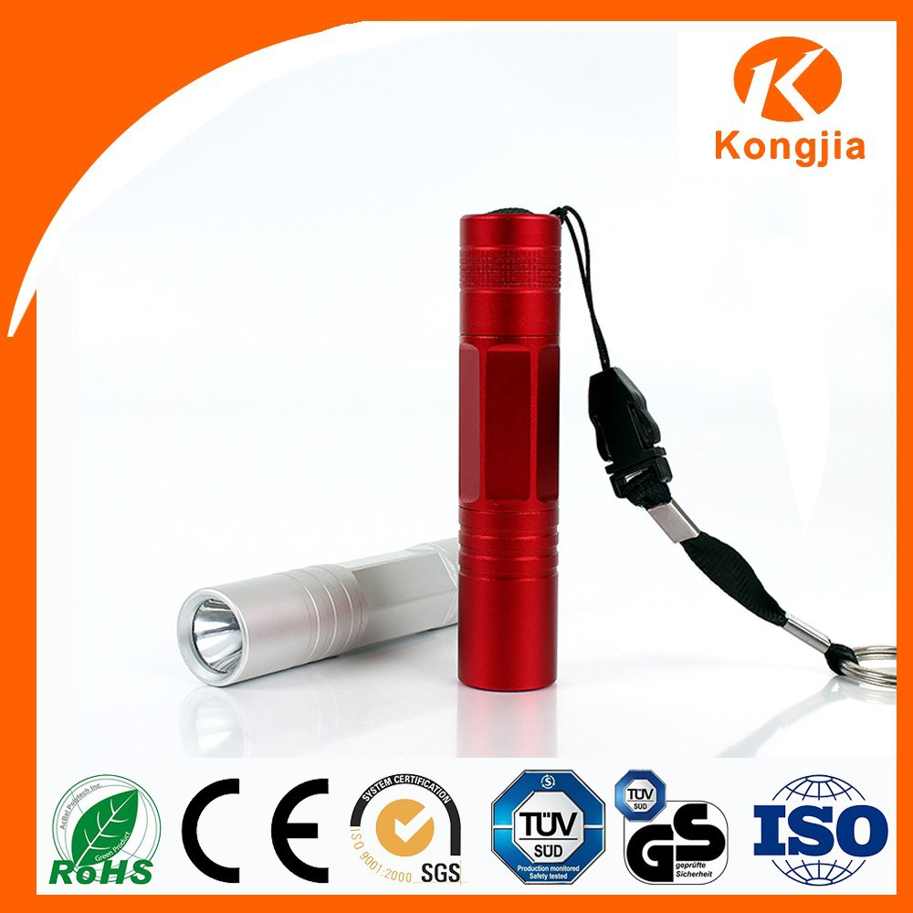 Ultra Bright AA Battery Powered Durable Led Flashlight Wholesale Aluminium Bamboo LED Torch