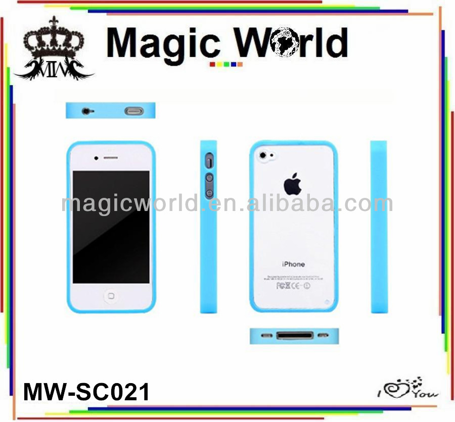 new arrival simple style mobile phone silicone case for iphone 4s