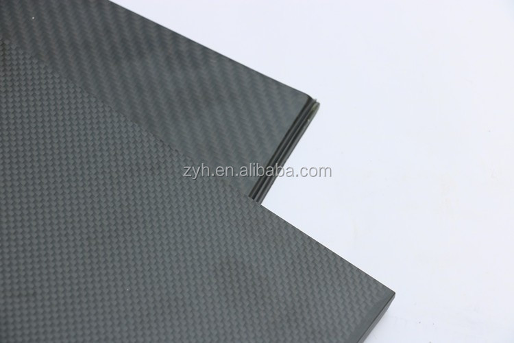 ZYH factory sell directly high quality low price 3k twill matte carbon fiber sheet price