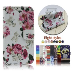 PU leather flip case for HTC one M9 plus with card slot holder
