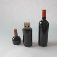 Promotional Bottle USB,Red Wine Bottle USB Flash Drive