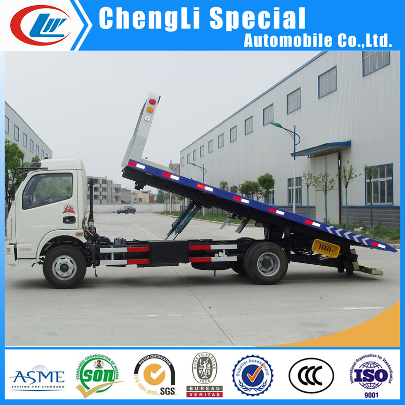 5TON Road Wreckers Truck for Accident Car Carrier Truck in Zero Degree Tilt Tray