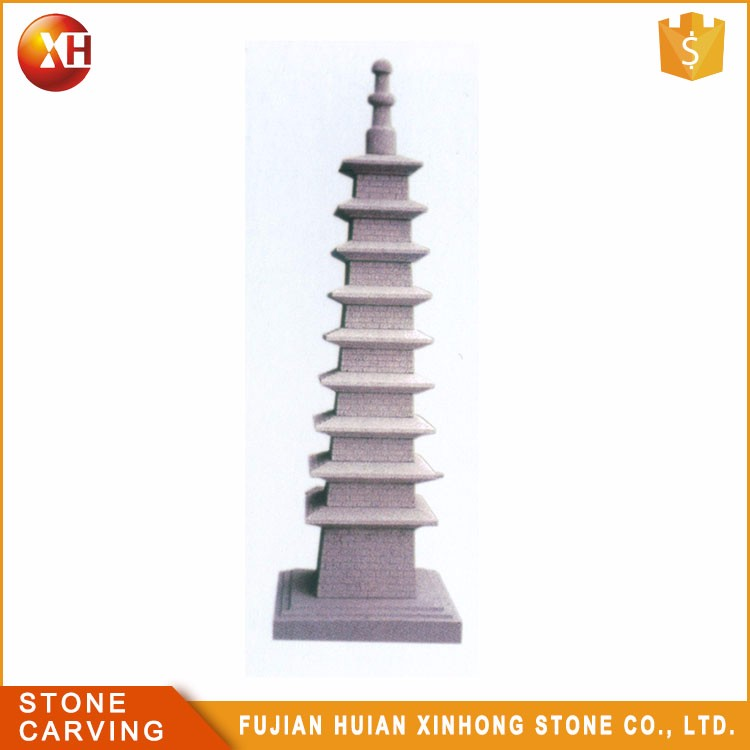 24 Years Factory Natural Granite Garden Stone 3 Tier Japanese Pagoda Lantern
