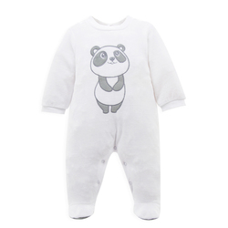 2016 New Arrival Baby Jumpsuit Winter Velvet Baby Romper Cute Animal Print Footed Baby Romper