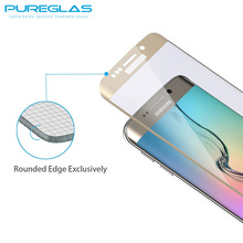 Anti-scratch screen protector 3D tempered glass screen guard for Samsung Galaxy S6 edge