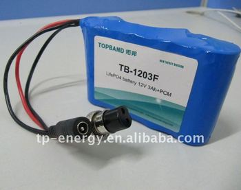 12V3Ah TB-1203F LiFePO4 Battery for medical equipment
