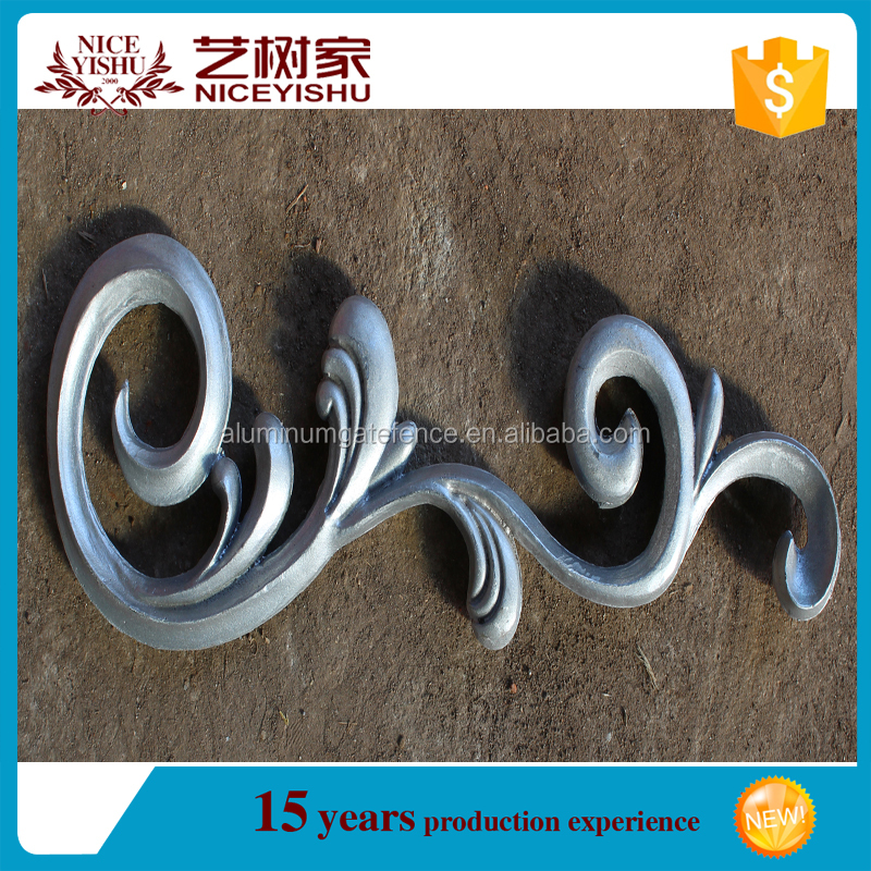 aluminium accessories/ metal ornaments for gates/fence/stairs/railings