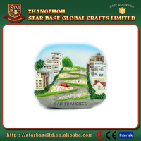 Good quality resin cheap beautiful country souvenir fridge magnets