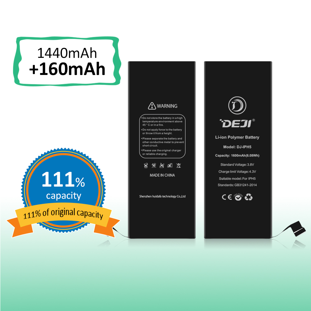 100% New batteries High capacity OEM Battery for Apple iphone 5 5S replacemnt batteries