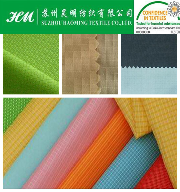ECO-TEX 200t nylon taslon hexagon ripstop fabric