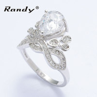 Artificial Cubic Zirconia Rings Price Sliver Plated Diamond Crown Jewelry