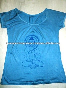 printed ladies t-shirts buddha from india