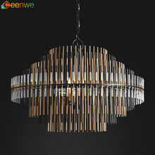 Zhongshan 110-250volt big modern crystal chandeliers indoor pendant light
