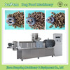 Twin screw floating sinking fish food pet food pellet making machine, processing line for sale in China