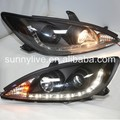 R8 Style TOYOTA Aurion Camry LED Head Lamps Black Housing 2001-2006 Year SN