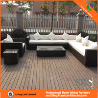 2015 cheap rattan sofa set sectional sofa compound sofa