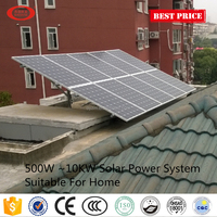 Hot sales solar power pv system on grid 500W~10kw. solar energy system China Factory Supplies